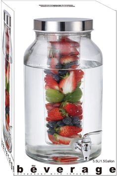Glass Beverage Dispenser with Infuser - 60 Units