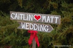 Wedding Sign Rustic Romantic Outdoor Weddings by TRUECONNECTION, $65.00