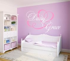 Chandelier Name Decal Fancy Wall Decal Chandelier Decor - Monogram wall decal for nursery