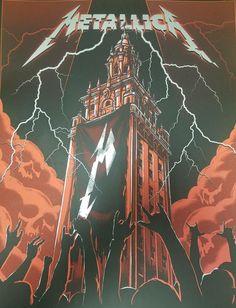 Metallica poster art Metallica Concert, Metallica Art, Hard Rock, Heavy Metal Art, Heavy Metal Bands, Tour Posters, Band Posters, Music Artwork, Metal Artwork