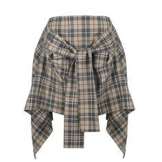 Vivienne Westwood Anglomania Tartan Hope Skirt (1.215 BRL) ❤ liked on Polyvore featuring skirts, tie-dye skirt, plaid skirt, vivienne westwood anglomania, asymmetrical hem skirt and draped skirt