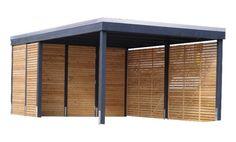 "Carport modern – The ""Clear Line"" from Freese Holz - Gartenhaus diy Diy Carport Kit, Carport Garage, Pergola, Gazebo, Carport Modern, Building Raised Beds, Carport Designs, Diy Shed, Play Houses"