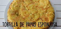 Sigue la receta y en pocos minutos tendrás lista tu tortilla de papas.