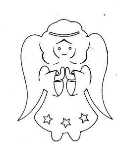 papír angyalka sablon