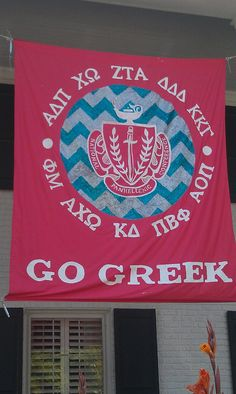 Epsilon Chapter (Unversity of Arkansas) made this awesome Panhellenic banner.