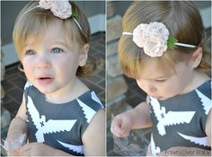 Fawn Over Baby: Bare Blooms: Hair Accessories For Your Little Lady - Review + Giveaway!