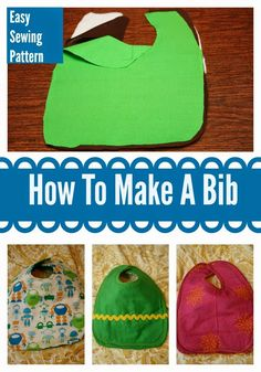 How to Make A Bib (Very Easily) || The Chirping Moms