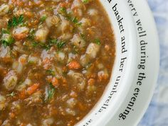 Beef Barley Soup...my favorite soup in the entire world!