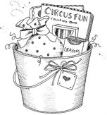 Gift Bucket of Goodies. Artwork by Gooseberry Patch.