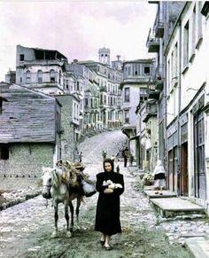 ✿ ❤ Bir zamanlar İstanbul, Beyoğlu 1950.