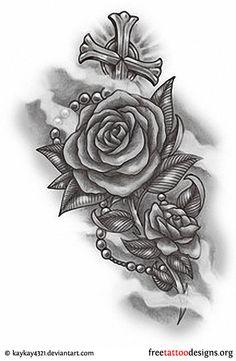 http://www.freetattoodesigns.org/rose-tattoos.html | Pearl Jewellery: 25+ Stunning Cool Latin Tattoos