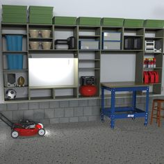 Kreg Project Plan: Garage Storage System. Organize any garage with this modular storage unit that's versatile, adaptable, and sturdy to contain garage clutter.