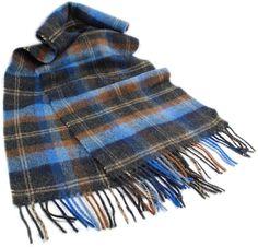 Biddy Murphy Irish Wool Scarf x Lambswool Scarf Made in Ireland Black Watch Tartan Tartan Plaid Scarf, Wool Scarf, Red Plaid, Sherlock Scarf, Woolen Clothes, Mens Cashmere Scarf, Fall Scarves, Womens Scarves, Blue Brown
