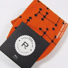 """RICHER POORER Men's Quality """"RAY LOW"""" No-Show Socks ORANGE One Size NWT #RicherPoorer #Casual"""