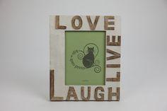 Moldura Love, Live, Laugh Branca 15 x 20 cm   A Loja do Gato Preto   #alojadogatopreto   #shoponline   referência 119265603