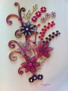 Triple color quilling by Canan Ersöz