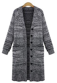 2016 Women Fashion knit sweater retro Long Sleeve autumn winter long Cardigan Sweater Coat