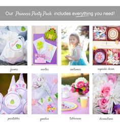 Princess-Package-Summary-Box-2  party for 8  150 invitations, favors, thankyou, costumes,cupcake decos, tableware, decorations....
