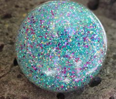 Turquoise Blue Glitter Mermaid Bubble Resin by GlitterFusion