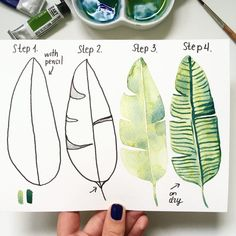 Love watercolor? Learn how to paint a leaf with watercolor by step-by-step watercolor tutorial. Tap here to view this tutorial and many more.