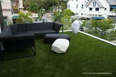 Gorgeous Chiselled outdoor furniture on artificial turf.