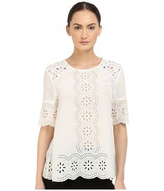 KATE SPADE Embroidered Daisy Swing Top. #katespade #cloth #shirts & tops