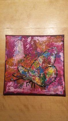Acrylmaleri limglimmer sommerfugl