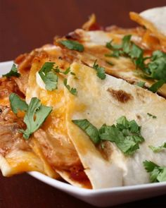 Servings: 1- 2 quesadillasINGREDIENTS1/2 pound chicken breast, cut into stripsSalt, to tastePepper, to taste½ cup BBQ sauce2 flour tortillas¼ cup red onion, julienned1/2 cup monterey jack cheese (double for 2 quesadillas)1/2 cup cheddar cheese (double for 2 quesadillas)GARNISHParsleyBBQ saucePREPARATION1. In a large skillet, add chicken breast and season both sides with salt and pepper. Cook 15-18 minutes, flipping halfway and adding the onions when you flip the chicken. (Cooking times may…