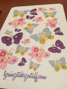 Cute Butterflies in assorted Sizes by LyRainzStickrzNStuff on Etsy