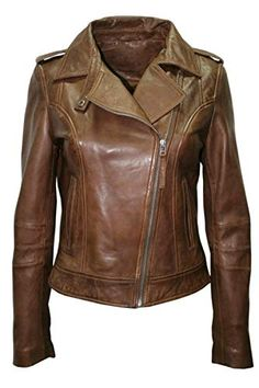 20857fe252b8e2 Beautiful Women s Leather Jacket Bomber Motorcycle Biker Real Lambskin Leather  Jacket for Womens Brown womens fashion