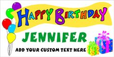 Personalized Happy Birthday Banner by www.bannergrams.com Personalized Happy Birthday Banner, Happy Birthday Banners, Party Banners, Party Themes, Birthday Parties, Kids, Anniversary Parties, Young Children, Boys
