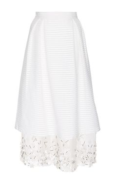 Cotton Silk Layered Hudson Skirt   by MOTHER OF PEARL Now Available on Moda Operandi