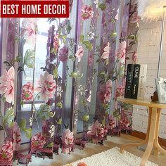 최고의 홈 장식 커튼 쉬어 창 커튼 거실 침실 부엌 현대 얇은 명주 그물 커튼 창 처리 블라인드