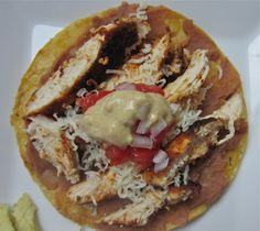 Little Mommy, Big Appetite: Chicken Tostadas with Creamy Avocado Dressing