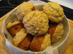 Oatmeal Muffins. Used sucanat, white whole wheat pastry flour, and other organic ingredients.  Delicious!