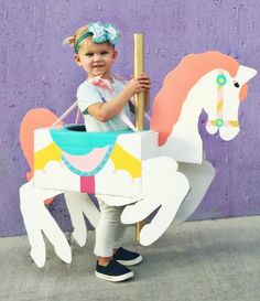 Carousel Horse Kids' Costume | Take your little ones on the merry go round this Halloween with a Carousel Horse Kids' Costume.