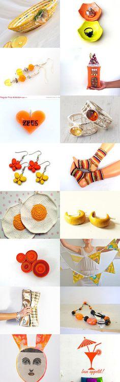 Summer Sizzle by Julia on Etsy- #etsy #treasury #yellow #basket #canary #bowl #key #holder #ring #holder #storage #organizer #orange #socks #ring #purse -Pinned with TreasuryPin.com
