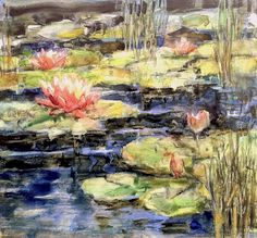 Art Talk - Julie Ford Oliver: Lily Pond  - Yupo Redo