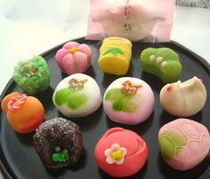 New Year wagashi - traditional Japanese sweet cakes
