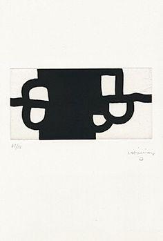 Eduardo Chillida Antzo II, Etching and aquatint. Image size: H x W. Sheet size: H W. Notan Design, Modern Art, Contemporary Art, Line Sketch, Abstract Words, Color Lines, Russian Art, Art Studios, Printmaking