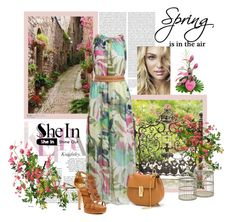 """""""floral belt chiffon dress"""" by narcisaaa ❤ liked on Polyvore featuring мода, Isolá, Chloé, Oris, MacKenzie-Childs и shein"""