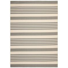 Safavieh CY6062-236 Courtyard Area Rug, Grey / Bone