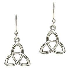 Trinity Knot Earrings at Creative Irish Gifts.