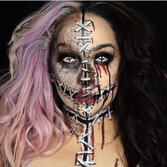 Cool Makeup Idea for Halloween  Makeup by @eva.lamorte