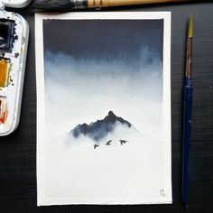 """Gefällt 729 Mal, 33 Kommentare - Camille (@f_ancy_pants) auf Instagram: """"Misty mountain inspired by @benjaminhardman gorgeous Iceland pictures I truly love this one ! Paint…"""""""