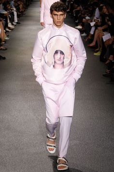 Pink and print!  ///Givenchy Spring/Summer 2013  #fashion #menswear
