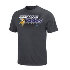 NFL Minnesota Vikings Control Clock Short Sleeve T-Shirt, Charcoal Heather by Majestic. $12.08. Screen print graphics. Control The Clock Heathered T-Shirt. Rib knit collar. Machine washable. Tagless collar. You can't control the clock, or the outcome of the game, but you can control your stadium style. Show the stadium loudly and proudly who your favorite NFL team is in this Control the Clock tee. Team wordmark and conference are vibrantly displayed across the front.
