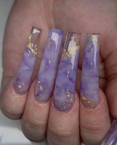 Purple Acrylic Nails, Best Acrylic Nails, Purple Nails, Acrylic Nail Designs, Long Nail Designs, Purple Nail Designs, Square Acrylic Nails, Creative Nail Designs, Creative Nails