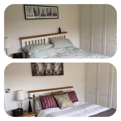 Bedroom b4 and after home staging