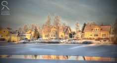 Photo print of a frozen lake in Finland winter by behindmyblueeyes, $20.00